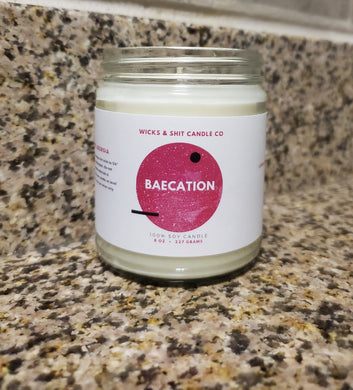 Baecation candle- Swaying in a hammock with your love as a breeze of woods, amber, musk and citrus caresses your senses.