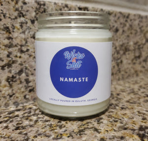 Namaste Candle- Bow to your inner love, light and joy with this meditative scent of patchouli, tea tree and sandalwood.