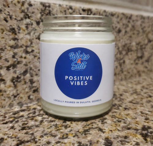 Positive Vibes Candle-Keep your energy aligned with the balancing scent of sage and citrus promoting great aroma vibrations.