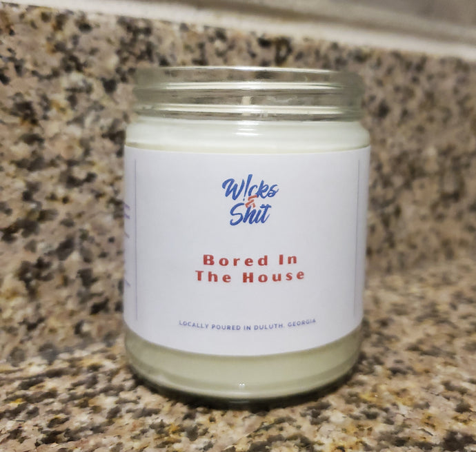 Bored In The House Candle-This candle is a just the right amount of citrus, apple, jasmine, rose and peach.