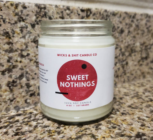 Sweet Nothings Candle- The cool crisp breeze fragrant with the scent of gardenia & jasmine.