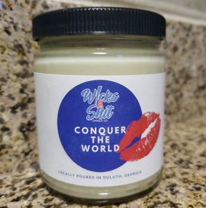 Conquer The World Coffee Candle