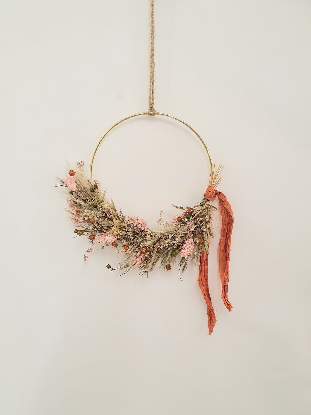 Rusty pinks wreath 15cm