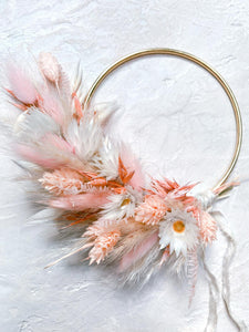 Peachy Wreath - 10cm