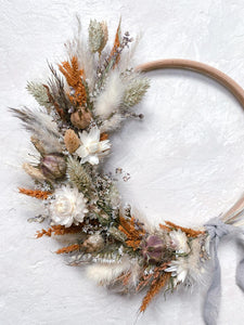 Rusty Natural Wreath - 15cm
