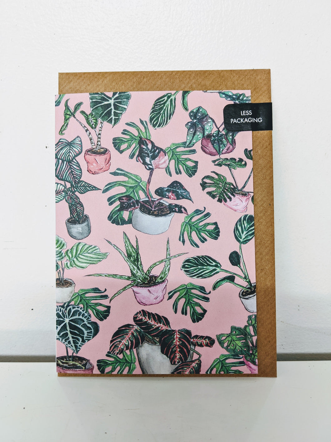 Majukoo pink Monstera card