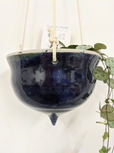 Blue pointed hanger by Spinning Leaf Ceramics - 8cm