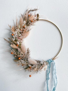 Rusty natural wreath 15cm