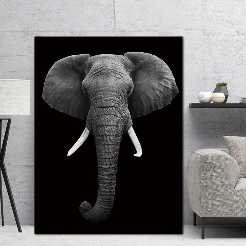 Soh Boho Wall Art Pictures animal canvas painting black and white art Wall poster home decor print on canvas decoration for living room