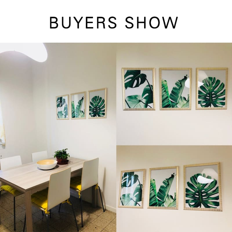 Soh Boho Modern Green Leaf Tropical Monstera Art Canvas Painting Posters Prints living room home decor wall art pictures no frame SID028