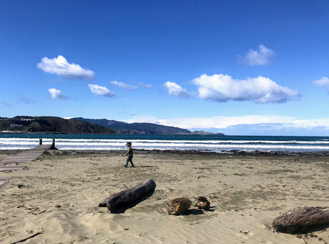 Life in isolation, Lyall Bay beach April 2020