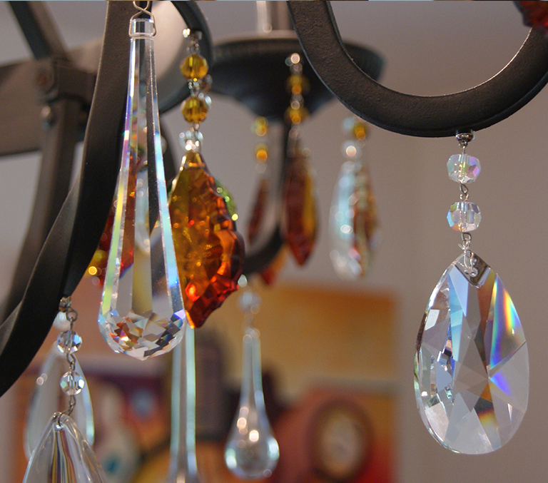 MagTrim The Worlds First MAGNETIC Chandelier Crystals And Ornaments - Chandelier crystals magnetic drops