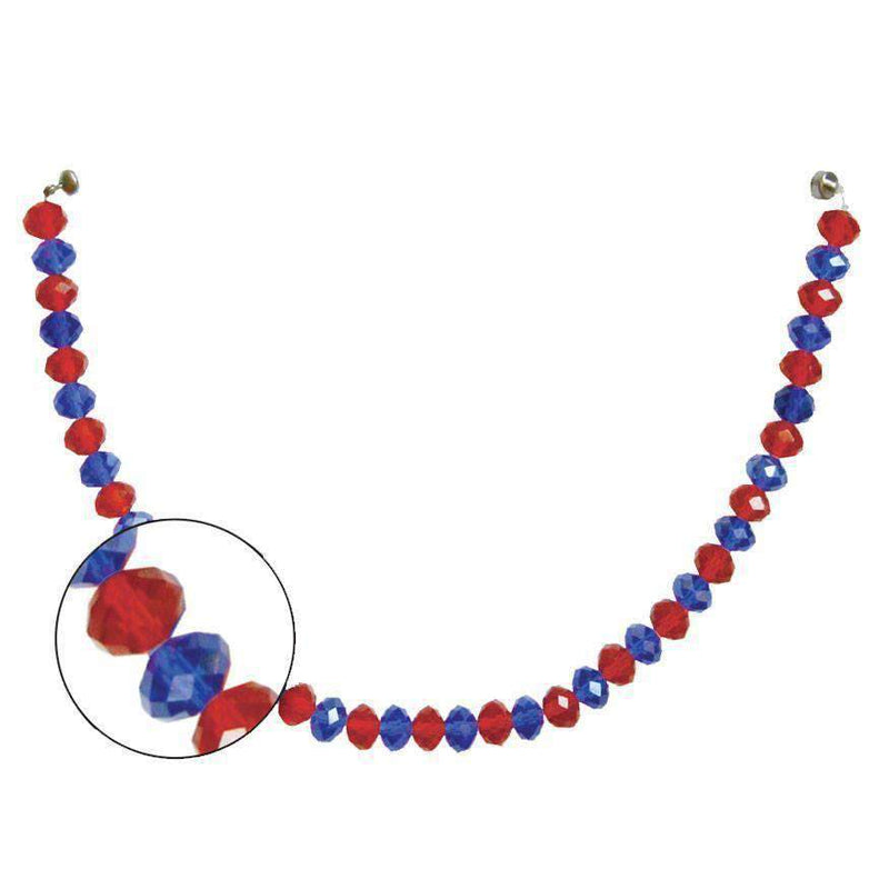 "12"" Crystal Garland - Blue/Red (Set of 3) Magnetic Chandelier Crystal TrimKit® MagTrim"
