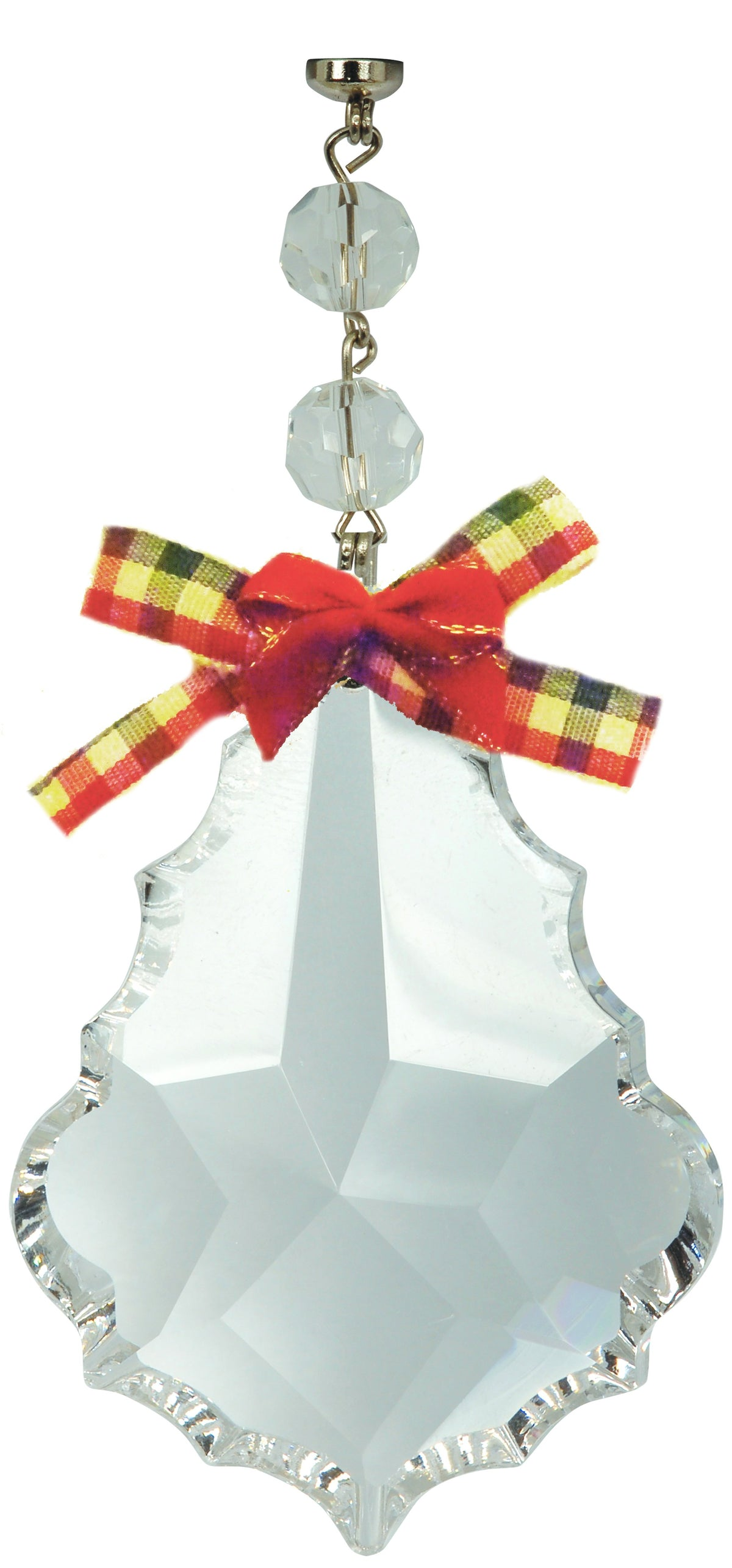 "3"" PLAID BOW HOLIDAY PENDALOGUE (Box of 3) Magnetic Chandelier Crystal TrimKit® Chandelier Crystals 
