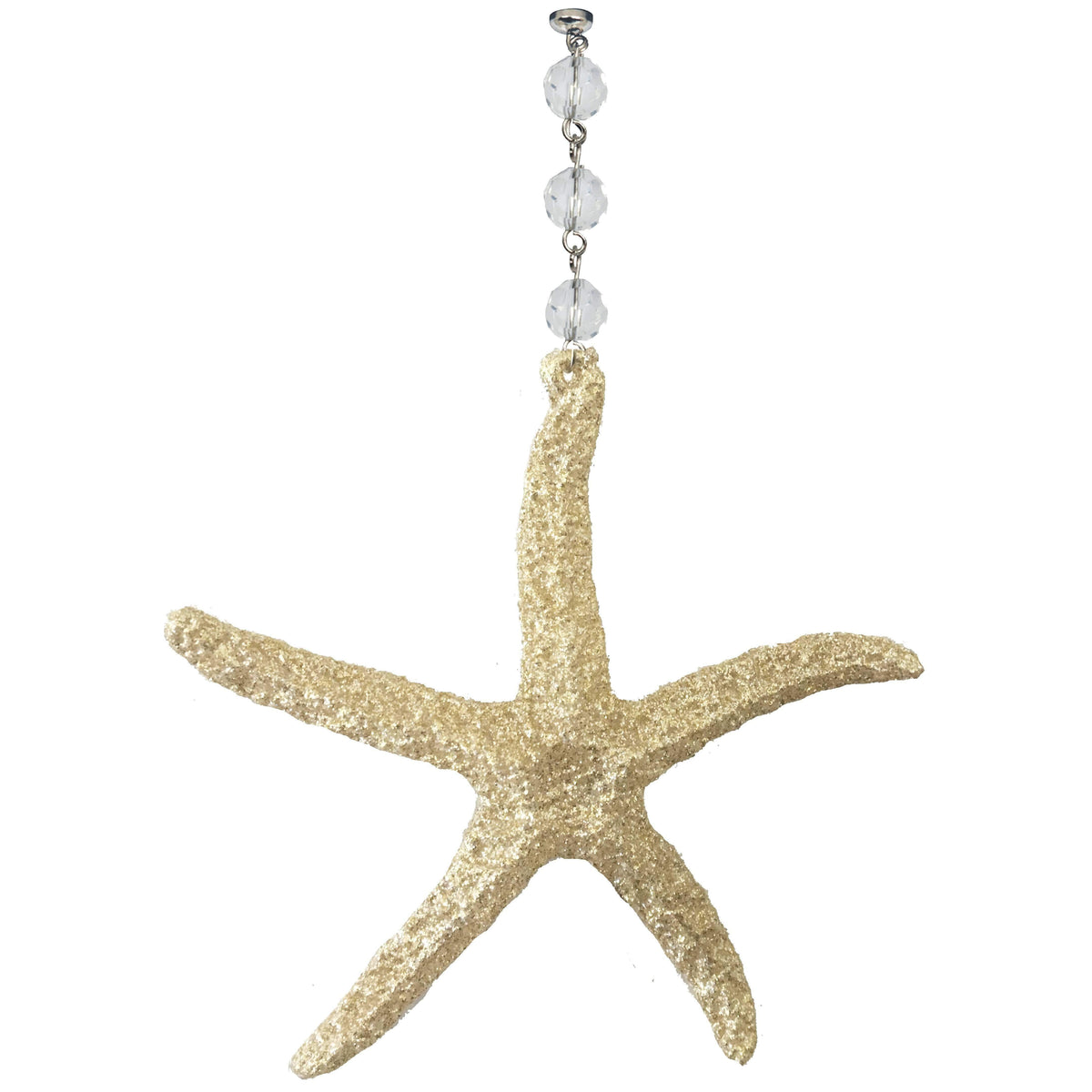 GLITTER GOLD STARFISH (Set/3) MAGNETIC COASTAL ORNAMENT - Magnetic Chandelier Accessory TrimKit® Chandelier Crystals | Magnetic Crystals | Lamp Crystals MagTrim  (1369842319462)