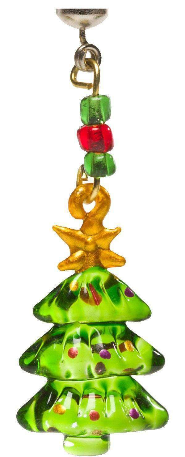 SHADE CHARMS - CHRISTMAS TREE (Set/4) MAGNETIC ORNAMENT - Magnetic Chandelier Accessory TrimKit® MagTrim  (473583044)