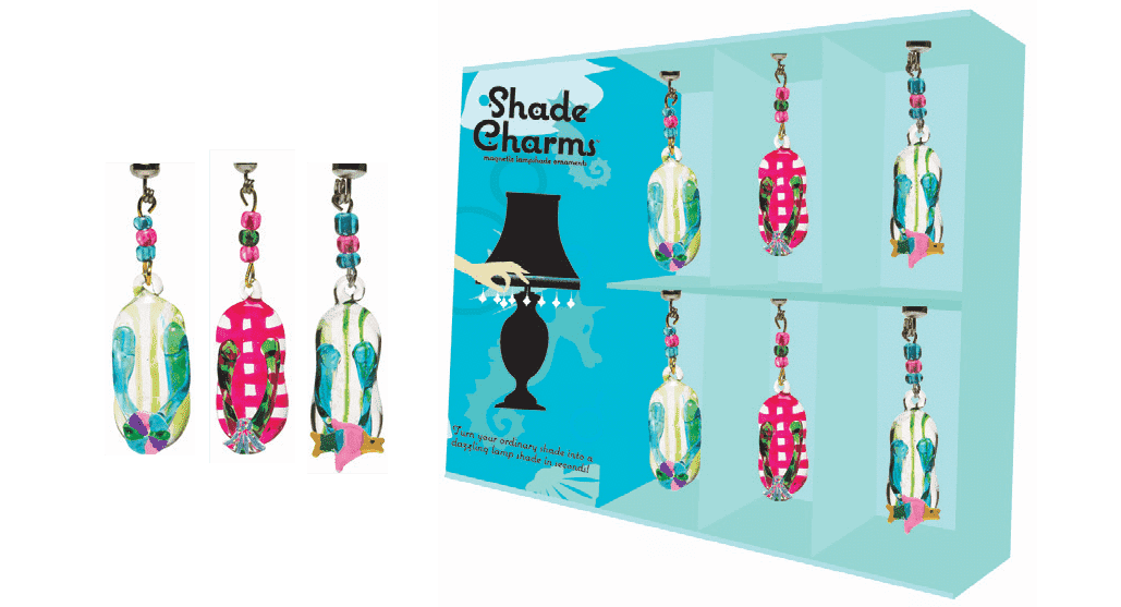 *SHADE CHARMS FLIP FLOPS (Set/6) Lamp Shade TrimKit® - FREE Chandelier Crystals | Magnetic Crystals | Lamp Crystals MagTrim Set/6