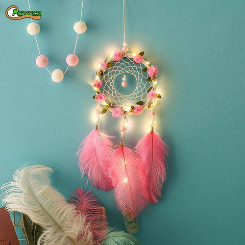 Image of Handmade Dreamcatcher with Lights