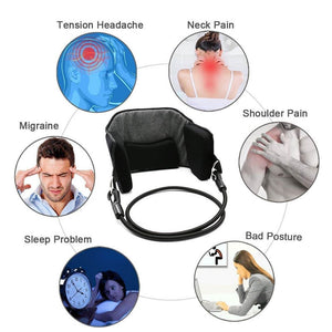 Neck Hammock Cervical Traction Device - Natural & Effective Pain Relief Adjustable Portable