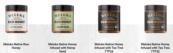 Meluka Raw Honey Range