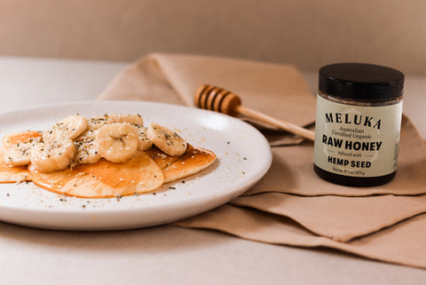 Meluka Honey on Pancakes