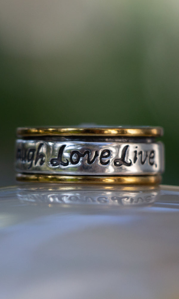 Laugh Love Live Ring