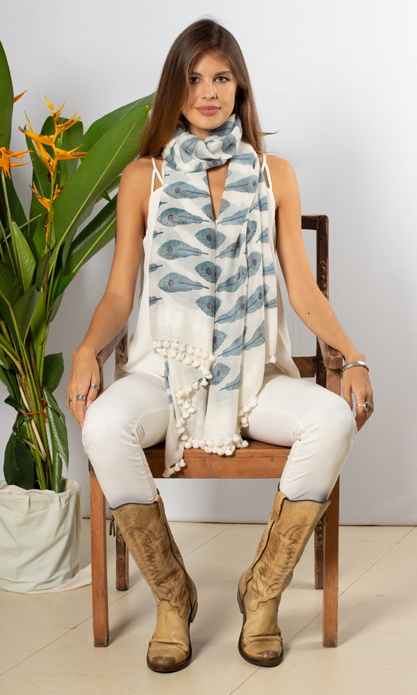 Paros Scarf - Feather