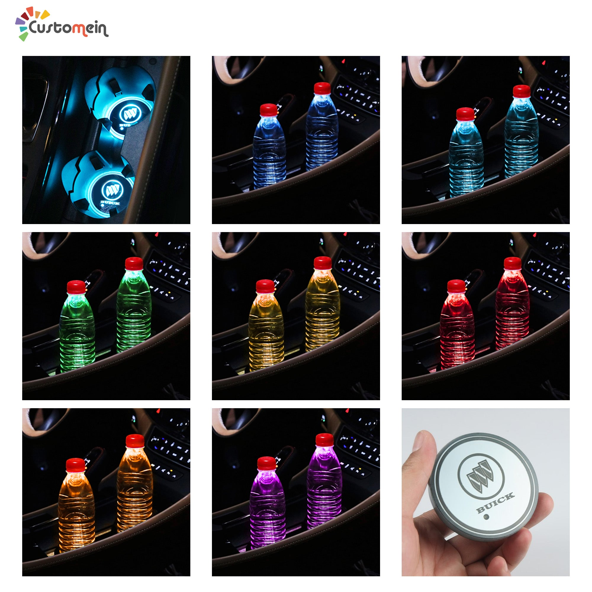 Custom Car Cup Holder LED Lights (1 PC)