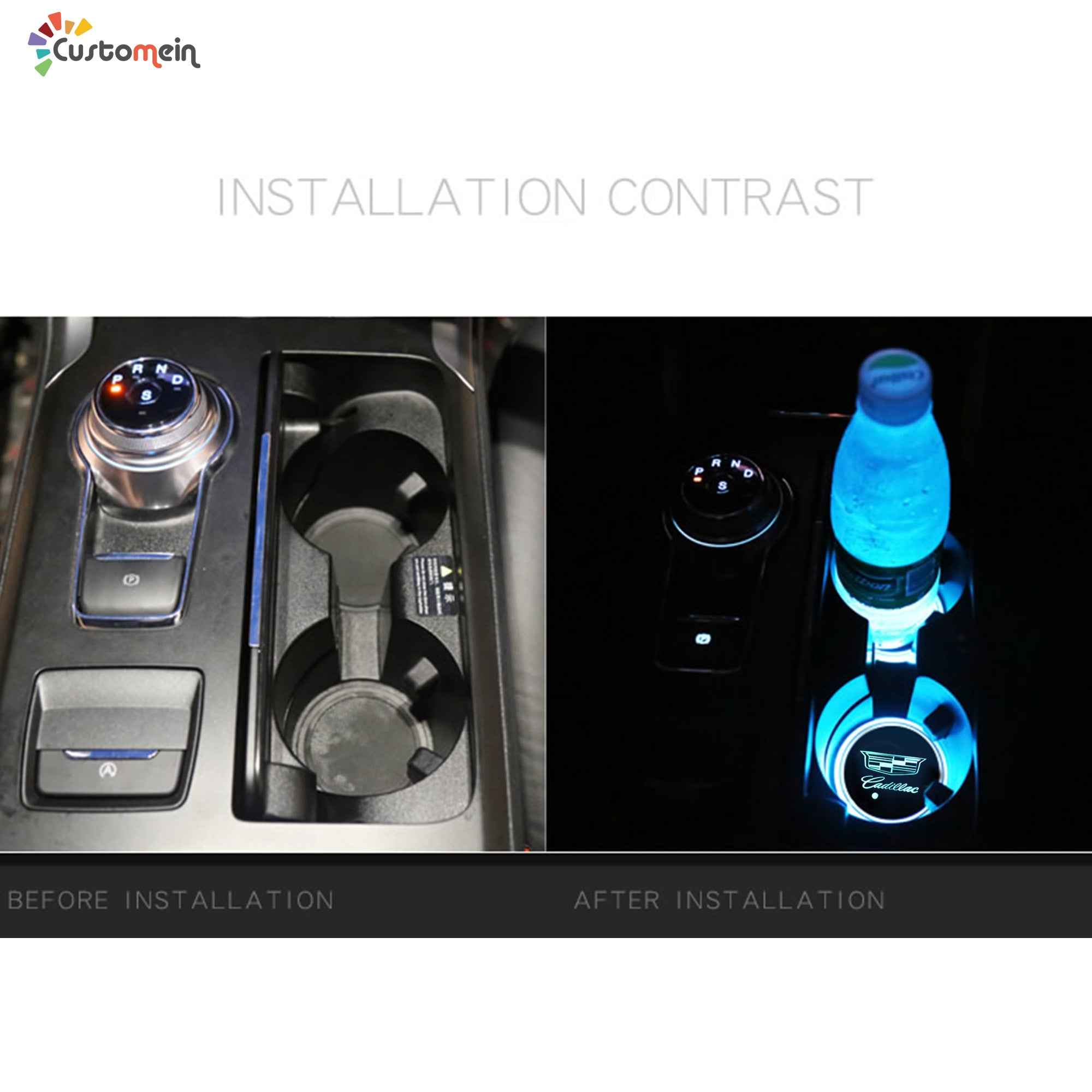 Car Cup Holder LED Lights (1 PC)
