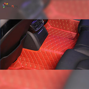 Custom Car Floor Mat in Leather