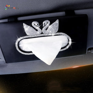 Tissue Box Clipped On Sun Visor