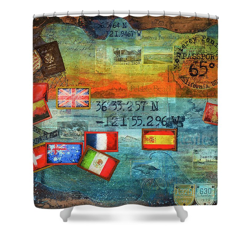 65 Degrees Monterey Peninsula California Passport - Shower Curtain