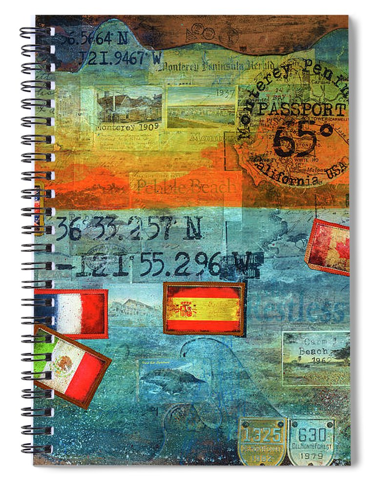 65 Degrees Monterey Peninsula California Passport - Spiral Notebook