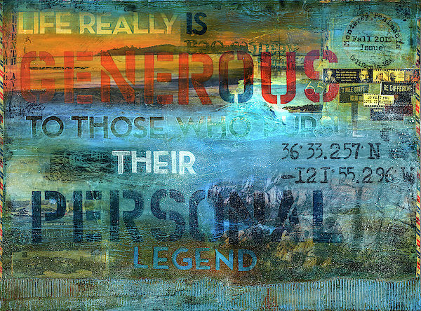 "Passport Series: 65 Degrees Monterey Peninsula ""Life is really generous..."" - Art Print"