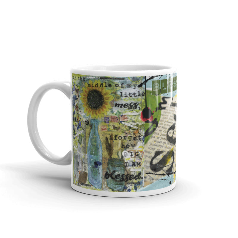 "Jocelyn's Art Journal Pages Collector Series, ""... I Forget How Big I'm Blessed"" - Art Mug"