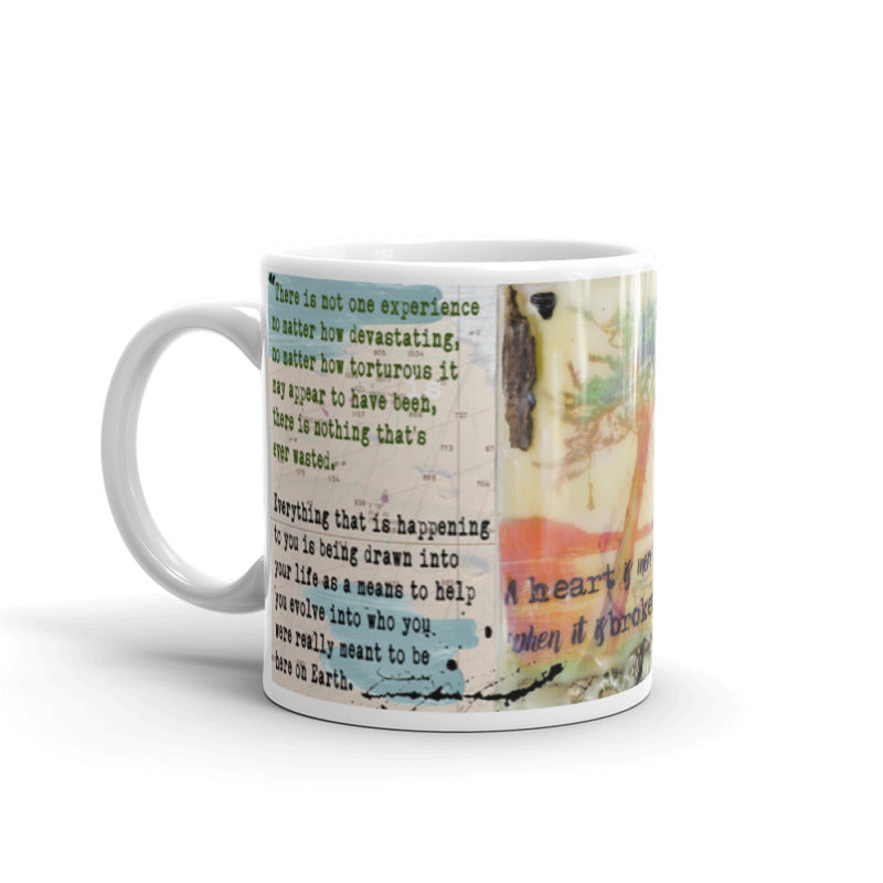 "Sea Echoes Collector Series: v1.9 ""A Heart Is More Beautiful When It Is Broken"" Art - Mug"