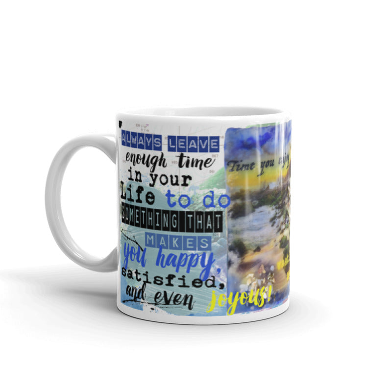 "Sea Echoes Collector Series: v1.5 ""Time You Enjoy Wasting Was Not Wasted"" Art - Mug"