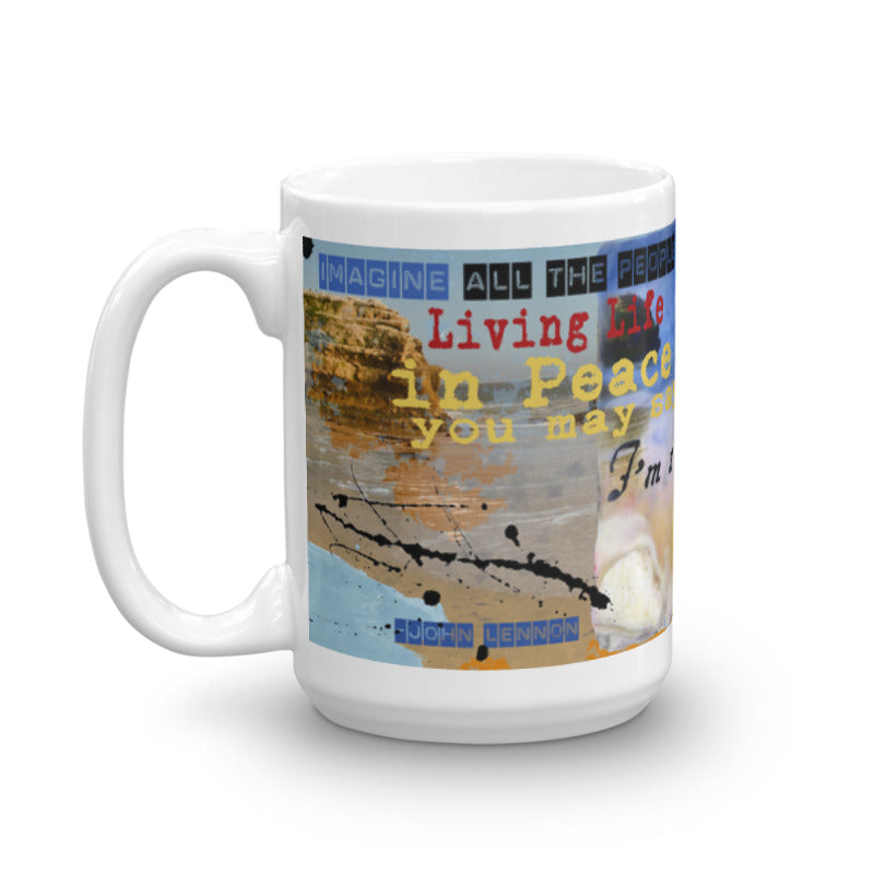 "Sea Echoes Collector Series: v1.3 ""I'm a Dreamer, But I'm Not the Only One"" Art - Mug"