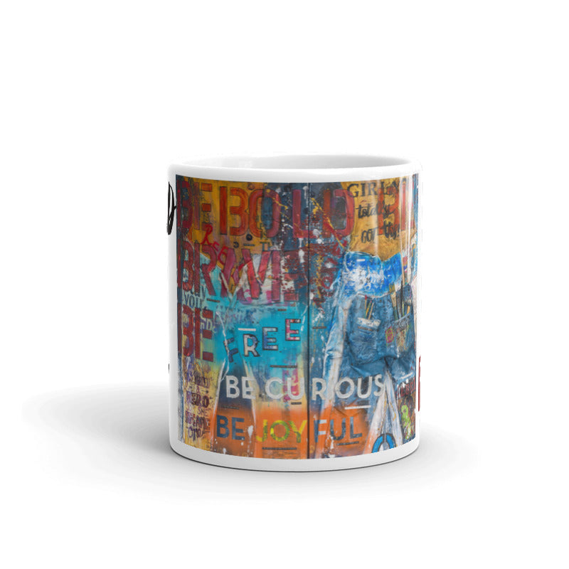"""Rebel Art Academy Collector Series: Rebel Girl Jeans Diptych"" Art - Mug"