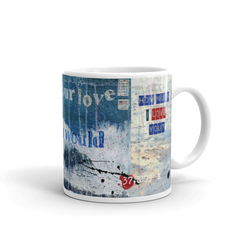 "Jocelyn's Art Journal Pages Collector Series: ""I Crave Your Love So Deep..."" Art - Mug"