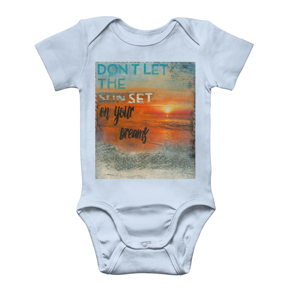 Don't Let the Sun Set On Your Dreams - Classic Baby Onesie Bodysuit