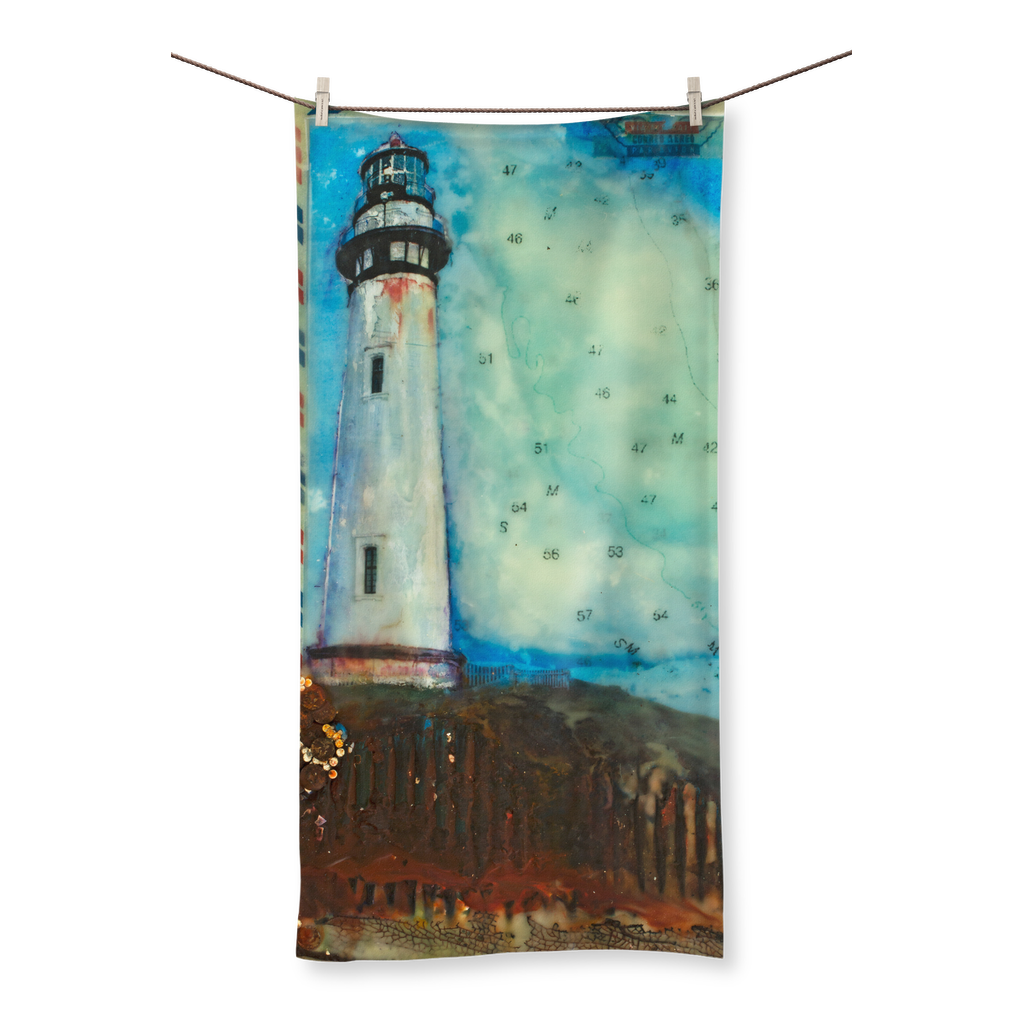 Journey to the Lighthouse: Pigeon Point, California All Over Towel
