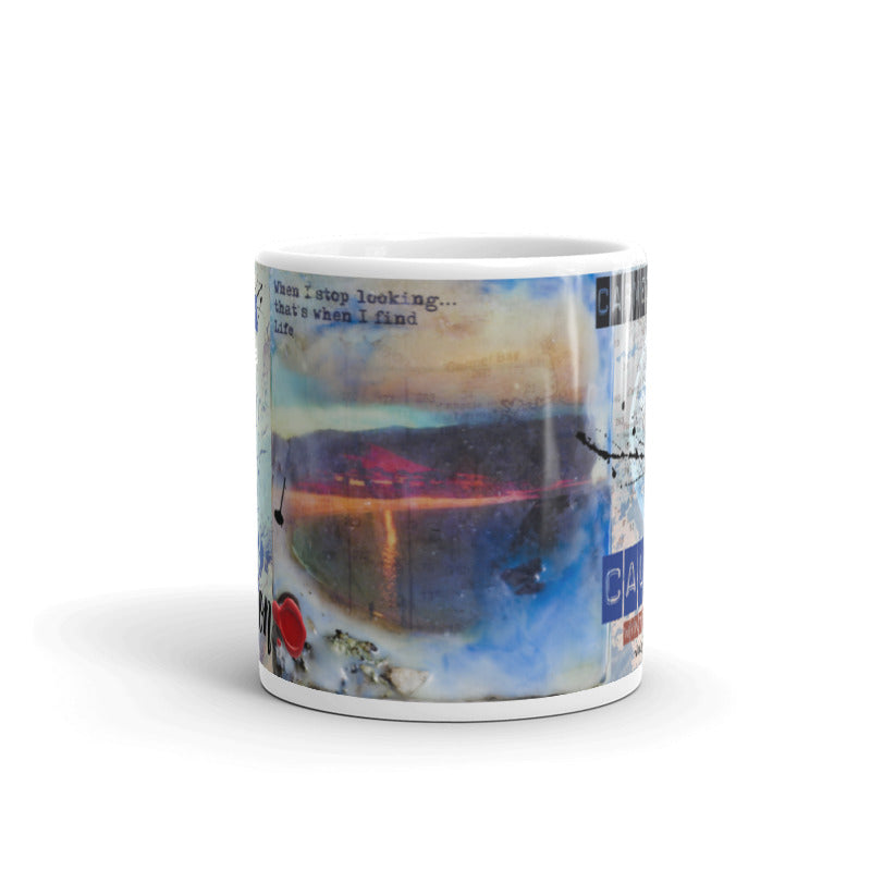 "Sea Echoes Collector Series: v1.8 ""When I Stop Looking, That's When I Find Life"" Art - Mug"