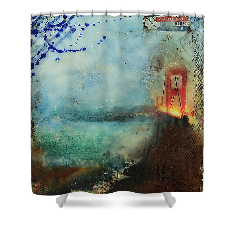 Hidden Depths San Francisco Golden Gate - Shower Curtain