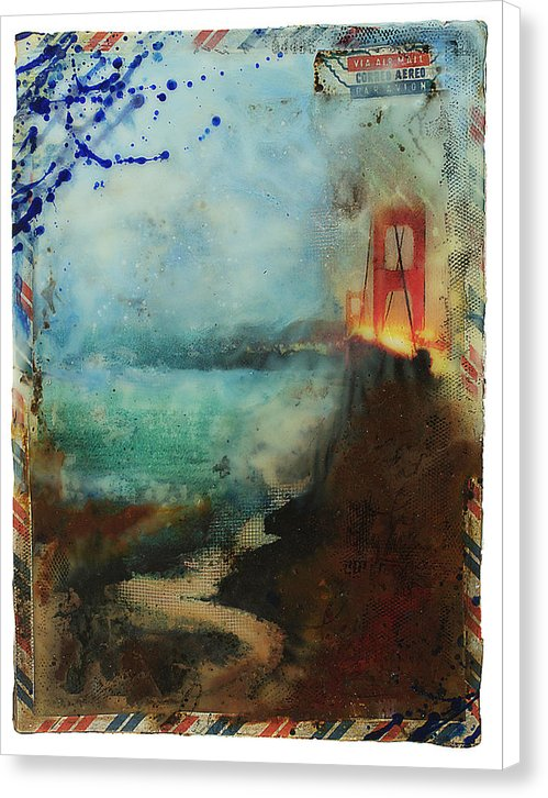 "Prayer In Hidden Depths Collector Series: ""San Francisco Golden Gate"" - Canvas Print"