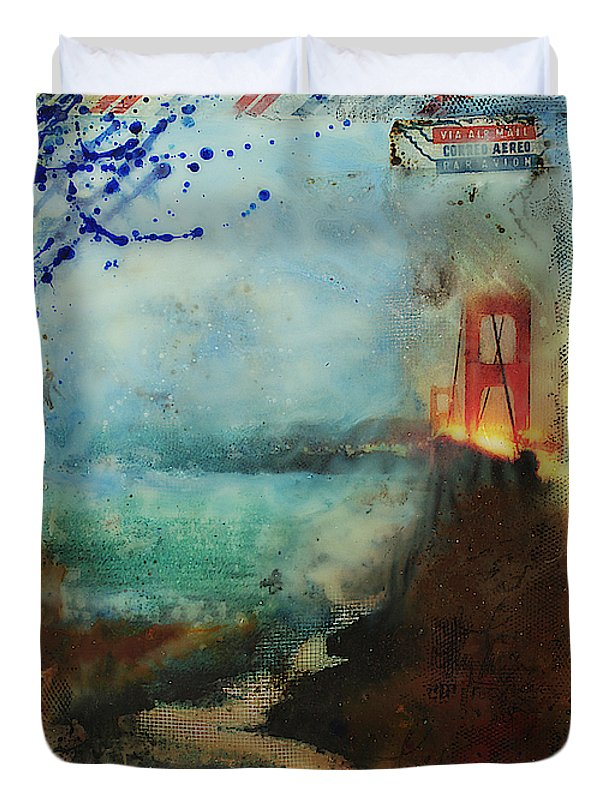 Hidden Depths San Francisco Golden Gate - Duvet Cover