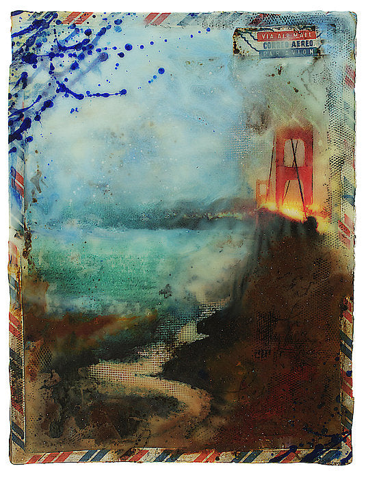"Prayer In Hidden Depths Collector Series: ""San Francisco Golden Gate"" - Art Print"