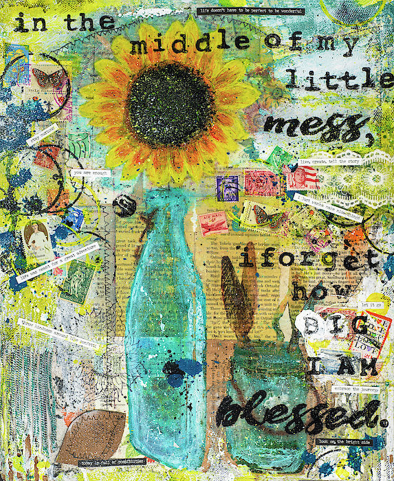 "Jocelyn's Art Journal Pages Collector Series: ""In The Middle Of My Little Mess..."" - Art Print"