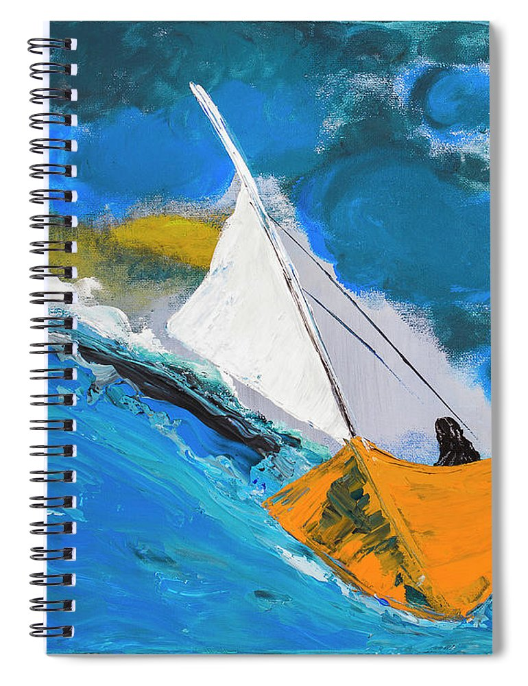 Journey To The Lighthouse - Spiral Notebook