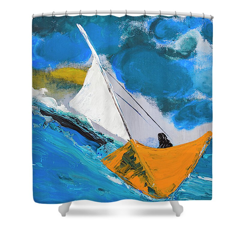 Journey To The Lighthouse - Shower Curtain
